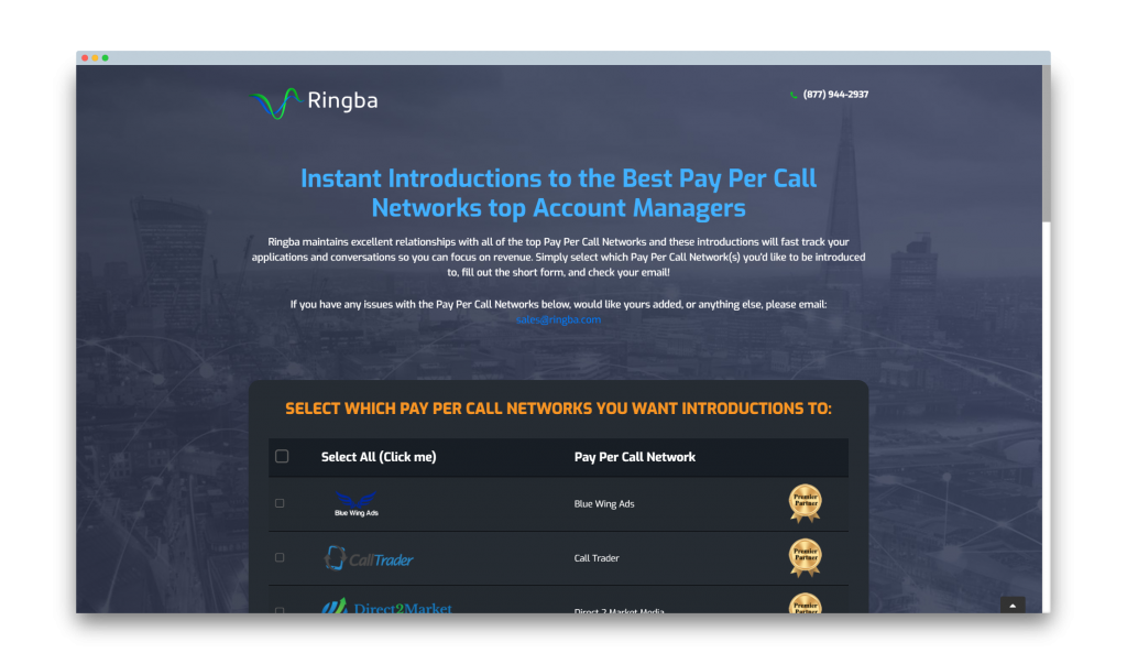 Get an introduction to Pay Per Call Networks from Ringba