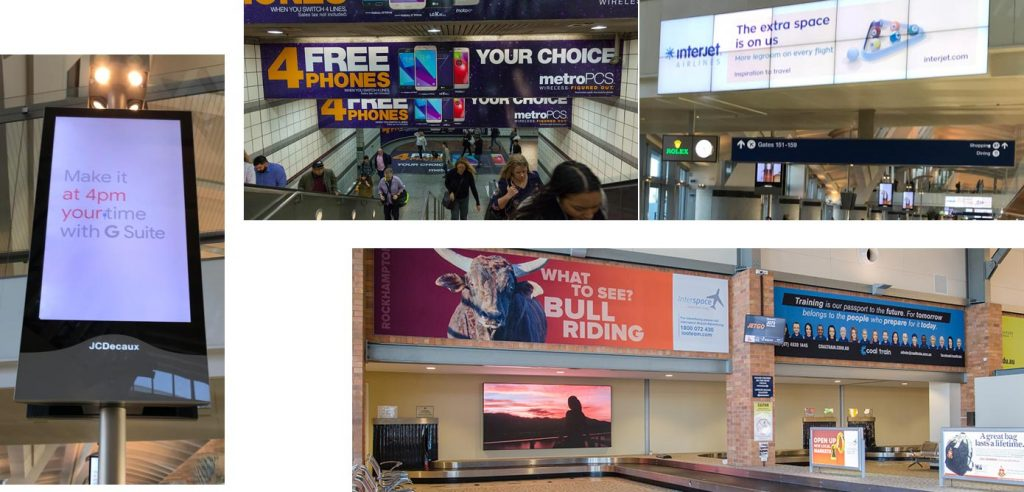 Airport advertising examples