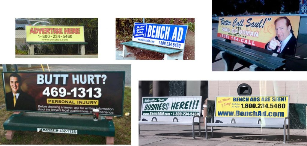Bench Advertising examples