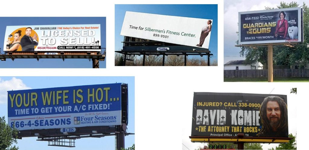 Billboard advertising example
