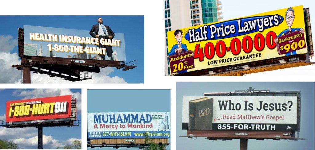 Billboard advertising example #2