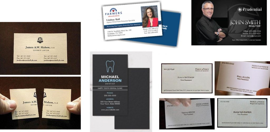 Business Card Advertising examples