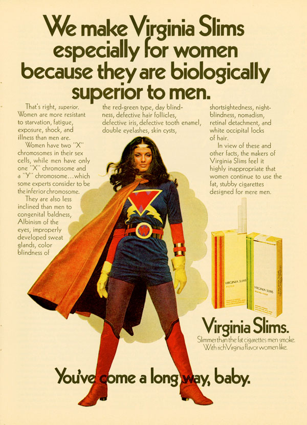 Virginia Slims advertisement copywriting example