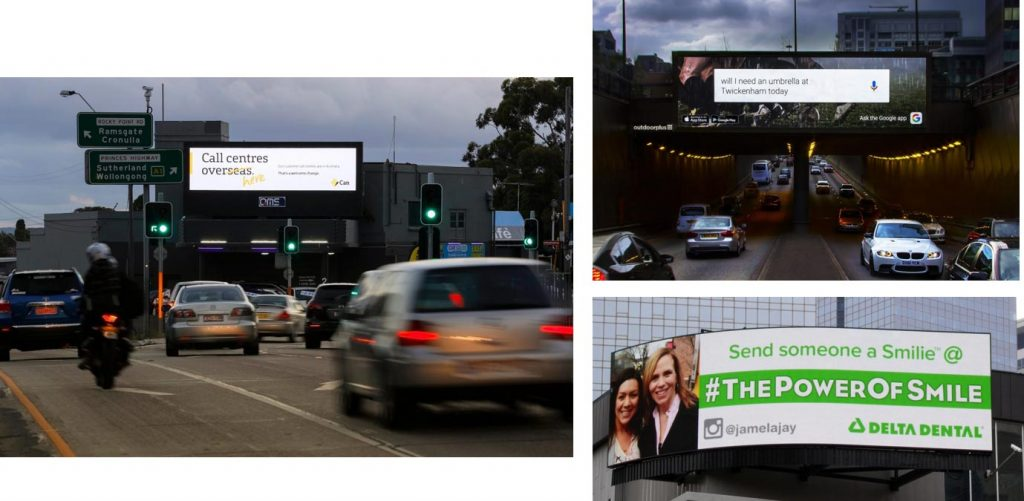 Digital Billboard advertising examples
