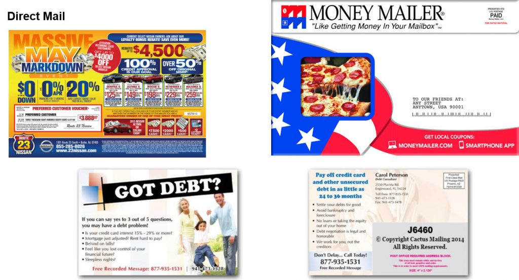Direct mail advertising examples