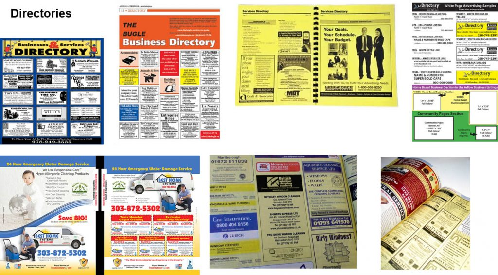 Directory advertising examples