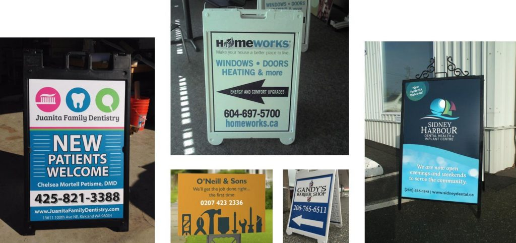 Freestanding Signs Advertising examples