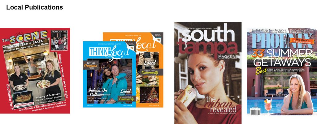 Local publication examples