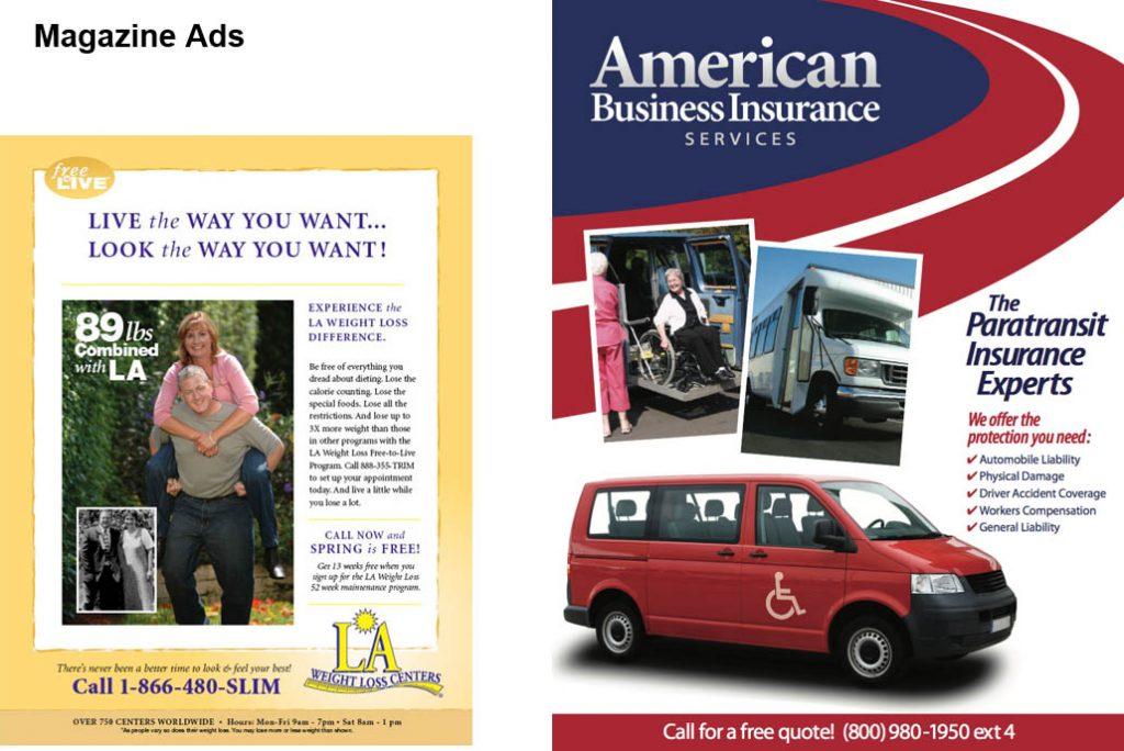 Magazine advertisement examples