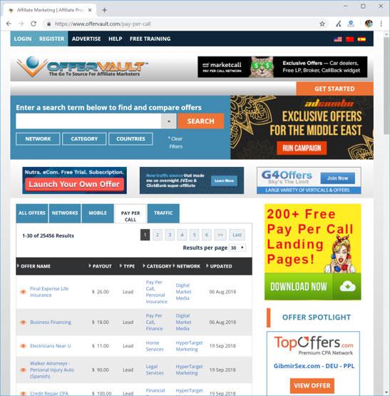 OfferVault | OfferVault.com/Pay-Per-Call