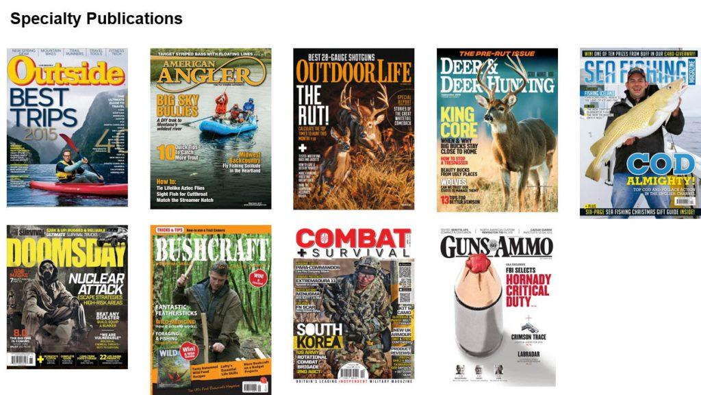 Specialty publication examples