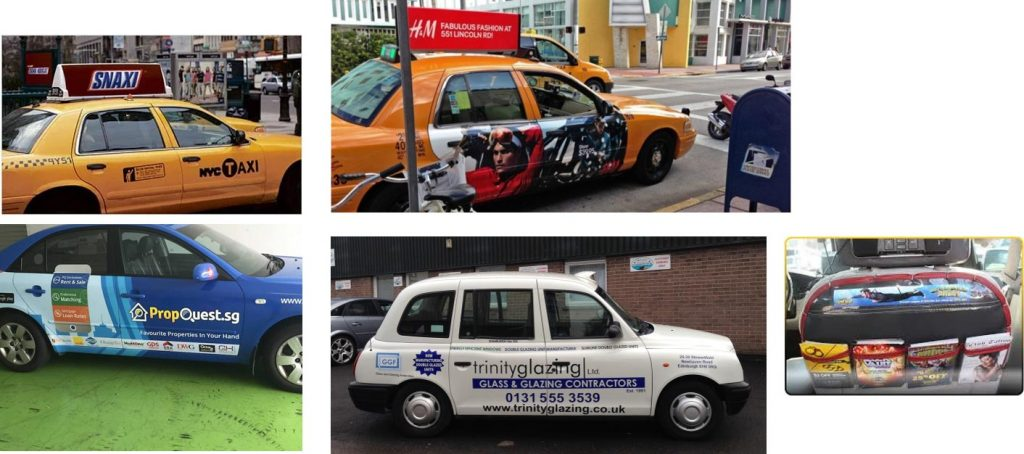 Taxi Advertising examples